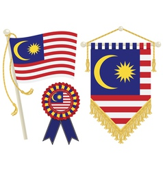 Malaysia flags vector