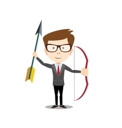 Man with a bow and arrow vector