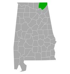 Map jackson in alabama vector