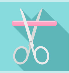 medicine scissor icon flat style vector image