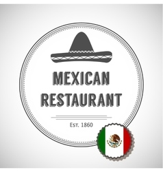 Mexican restaurant logo vector