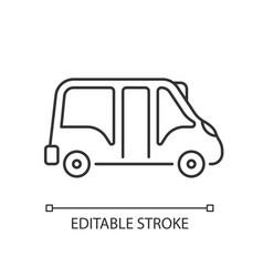minibus linear icon vector image