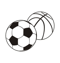 Monochrome set ball for football and basketball vector