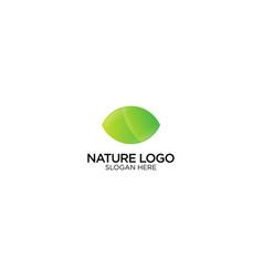 Nature technology logo design vector