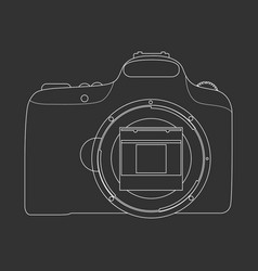 Outlined photo camera vector
