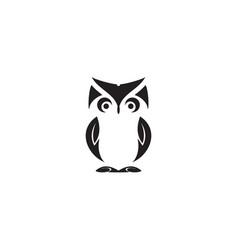 Owl bird logo icon design template vector