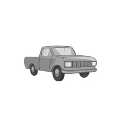 Pickup icon black monochrome style vector image
