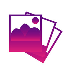 purple pictures photos icon vector image