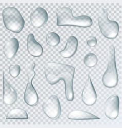 Raindrop or water drops isolated on transparent vector