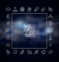 realistic outer space template vector image