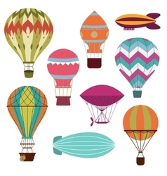 Retro hot air balloons vector image