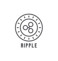 ripple thin line icon vector image