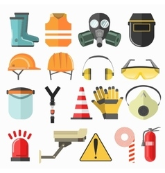 Safety work icons Safety at work icons vector