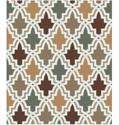 seamless islamic geometric pattern vector image