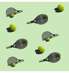 seamless pattern tennis vector image