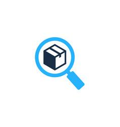 Search box logo icon design vector