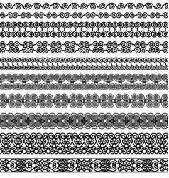 set borders vector image