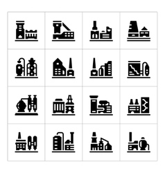 Set icons of factory vector image vector image