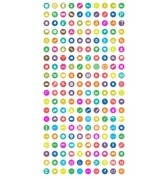 Set of 200 universal icons vector image