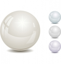 set of color pearl vector image
