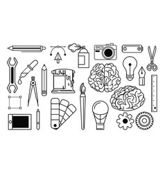 set of creative design vector image