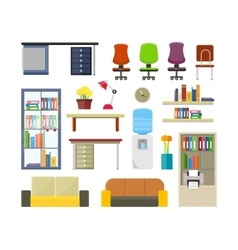 Set of Modern Office Furniture vector image