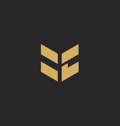shape geometry building business logo vector image