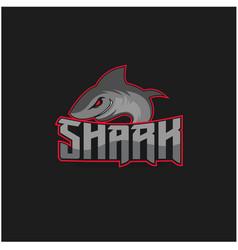 shark mascot for sport team logo design vector image