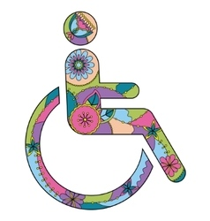 Sign of Persons with Disabilities colorful vector