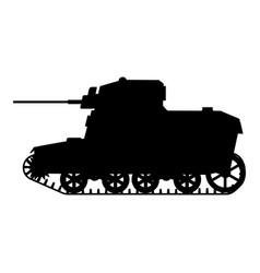 Silhouette tank american world war 2 m3 stuart vector