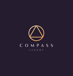 Simple compass logo concept with modern vector