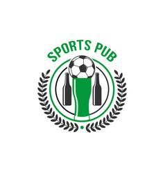 sport pub soccer pub football ball icon vector image