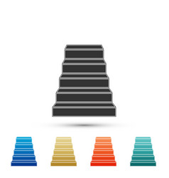 staircase icon isolated on white background vector image