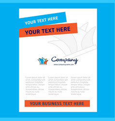sydney title page design for company profile vector image