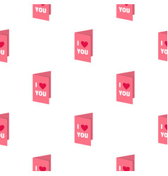 Valentines day card pattern seamless vector