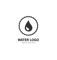 water logo template design water logo with modern vector image
