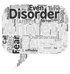 What You Should Know About Anxiety Disorders text vector image vector image