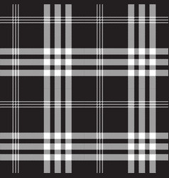 black and white check pixel square fabric texture vector image