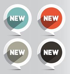 Circle New Labels Set vector image