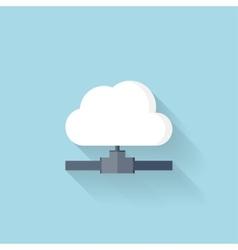 Flat web icon Cloud computing net vector image