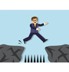 Hazards and risks in the business vector image