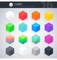 Isometric Cubes Collection vector image