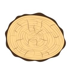 Tree slice isolated vector image