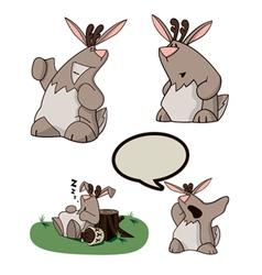 cartoon jackalope vector image vector image