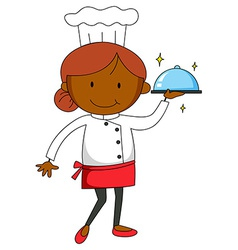 Female chef vector image vector image