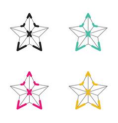 icon christmas star neon light style vector image