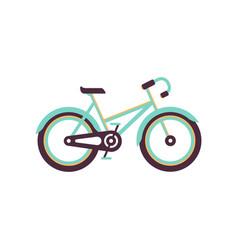 turquoise and yellow bike modern bicycle vector image