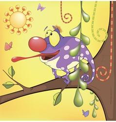 Big Chameleon cartoon vector image