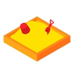 Childrens sandpit icon cartoon style vector image
