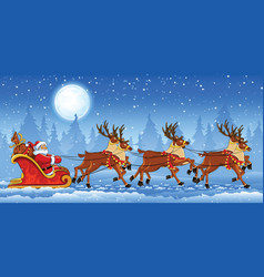 Christmas Santa Claus riding vector image vector image